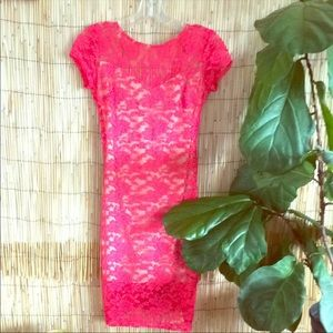 New w/out tag lace and mesh dress